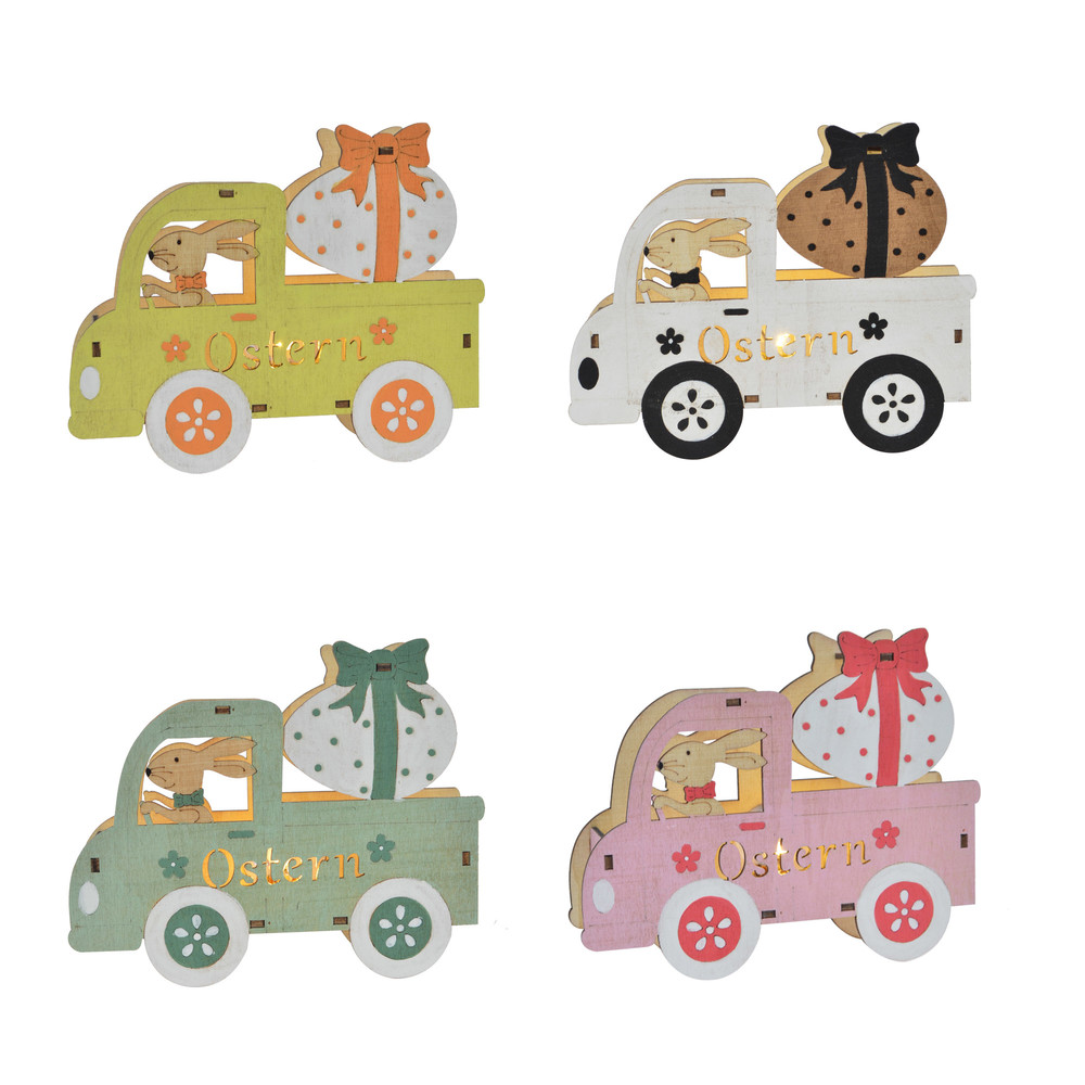 wholesales craft happy car bunny driver delivers presents easter festival bunny gift