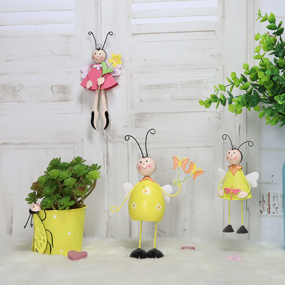 metal bee Easter decoration honey table decor honeybee holiday easter ornament items