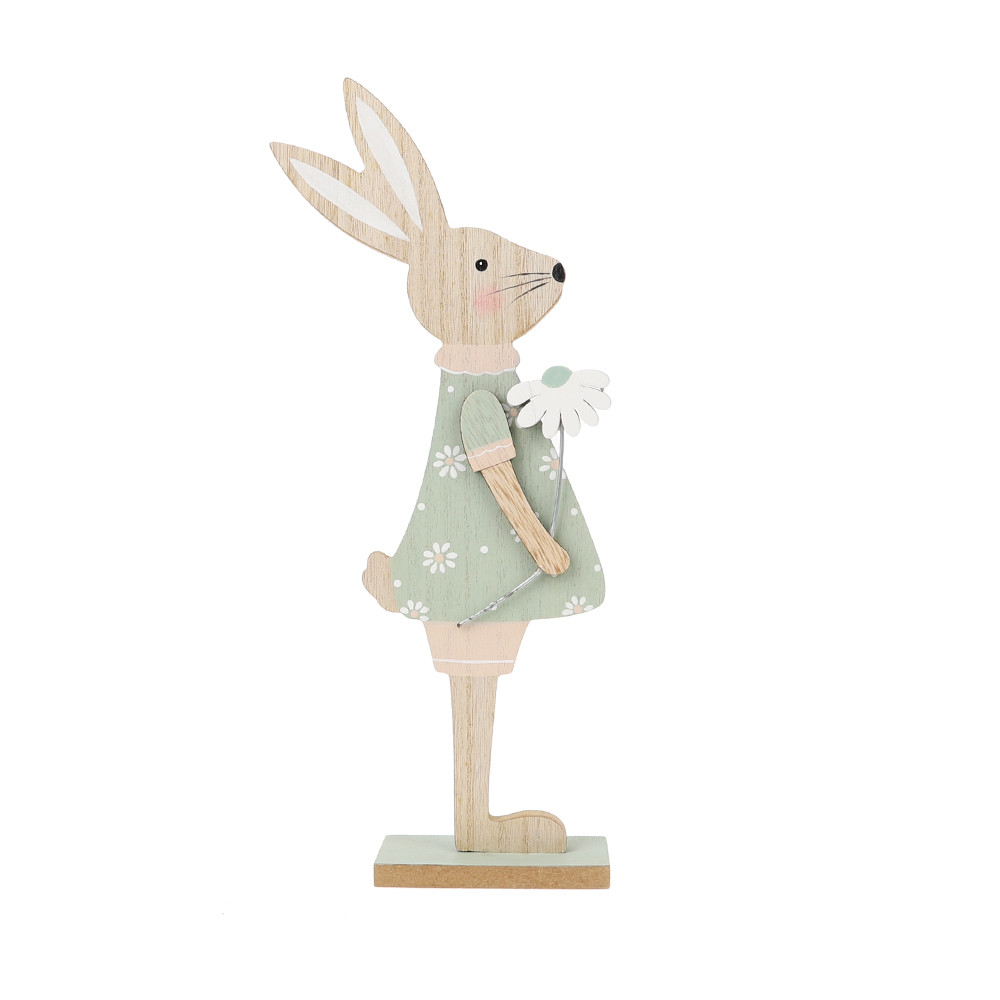 new arrival Easter bunny decoration wood rabbit craft festival decor