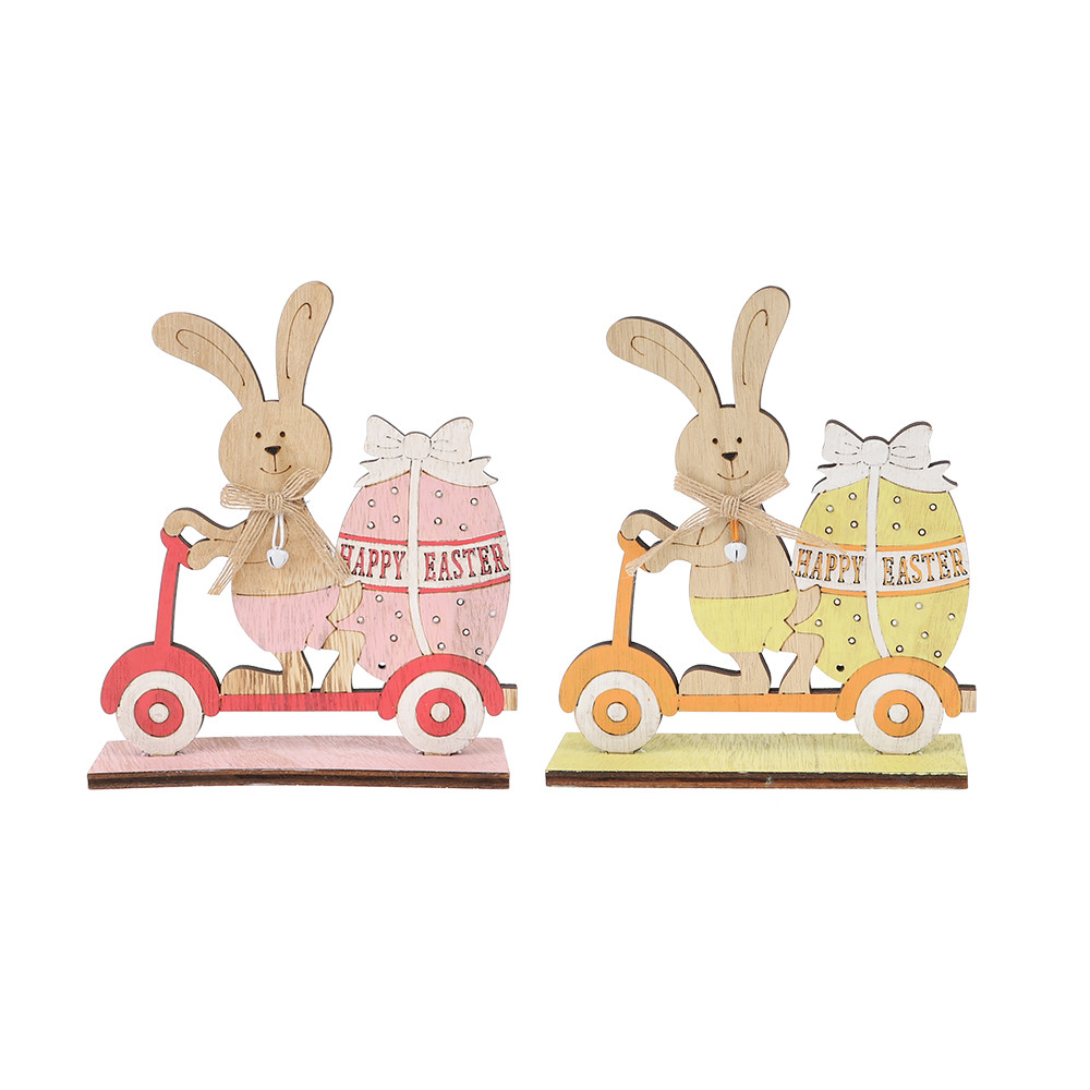 factory spring easter rabbit  ride a scooter handwork craft supplier