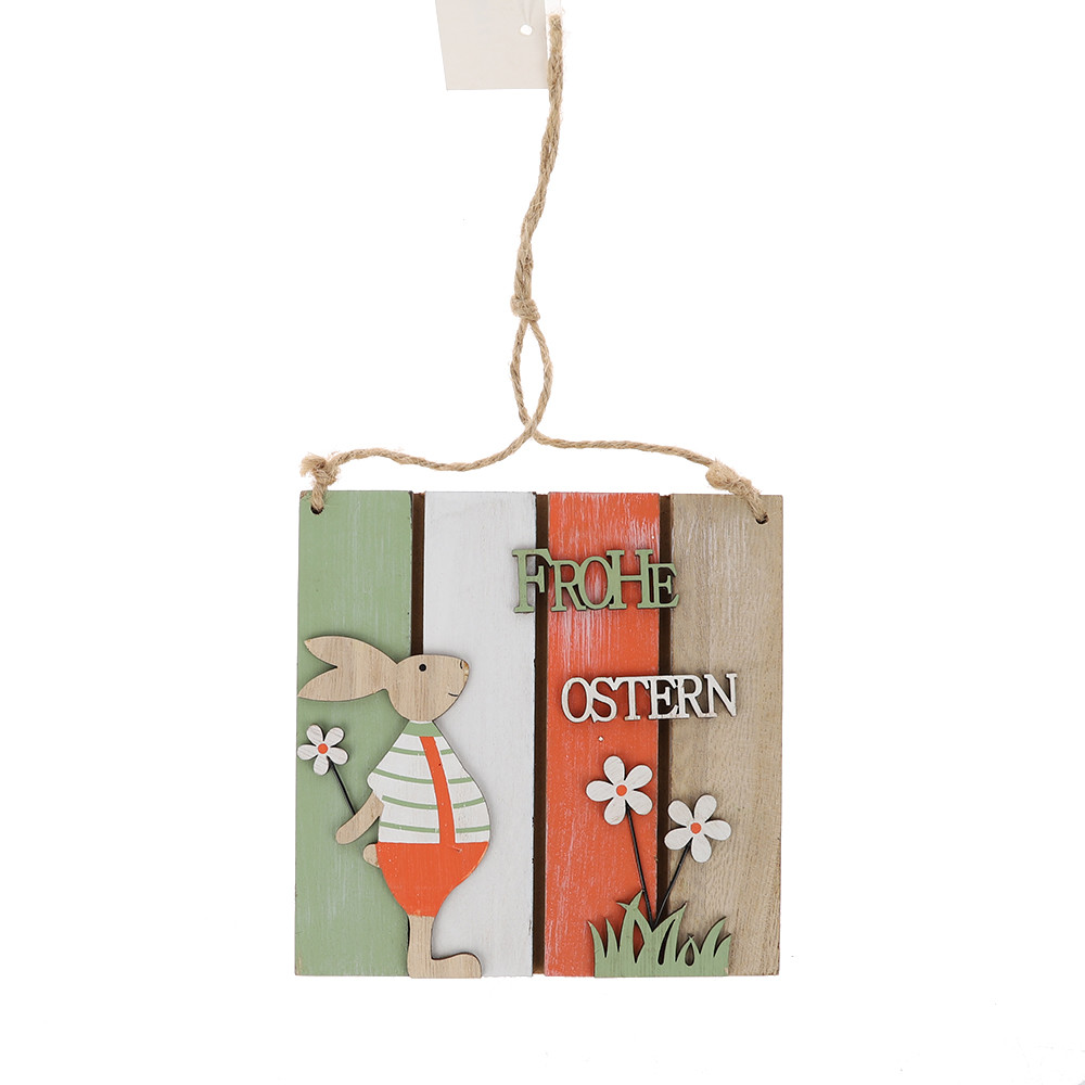 Easter wooden hanging board festival wall door decor sign hanger