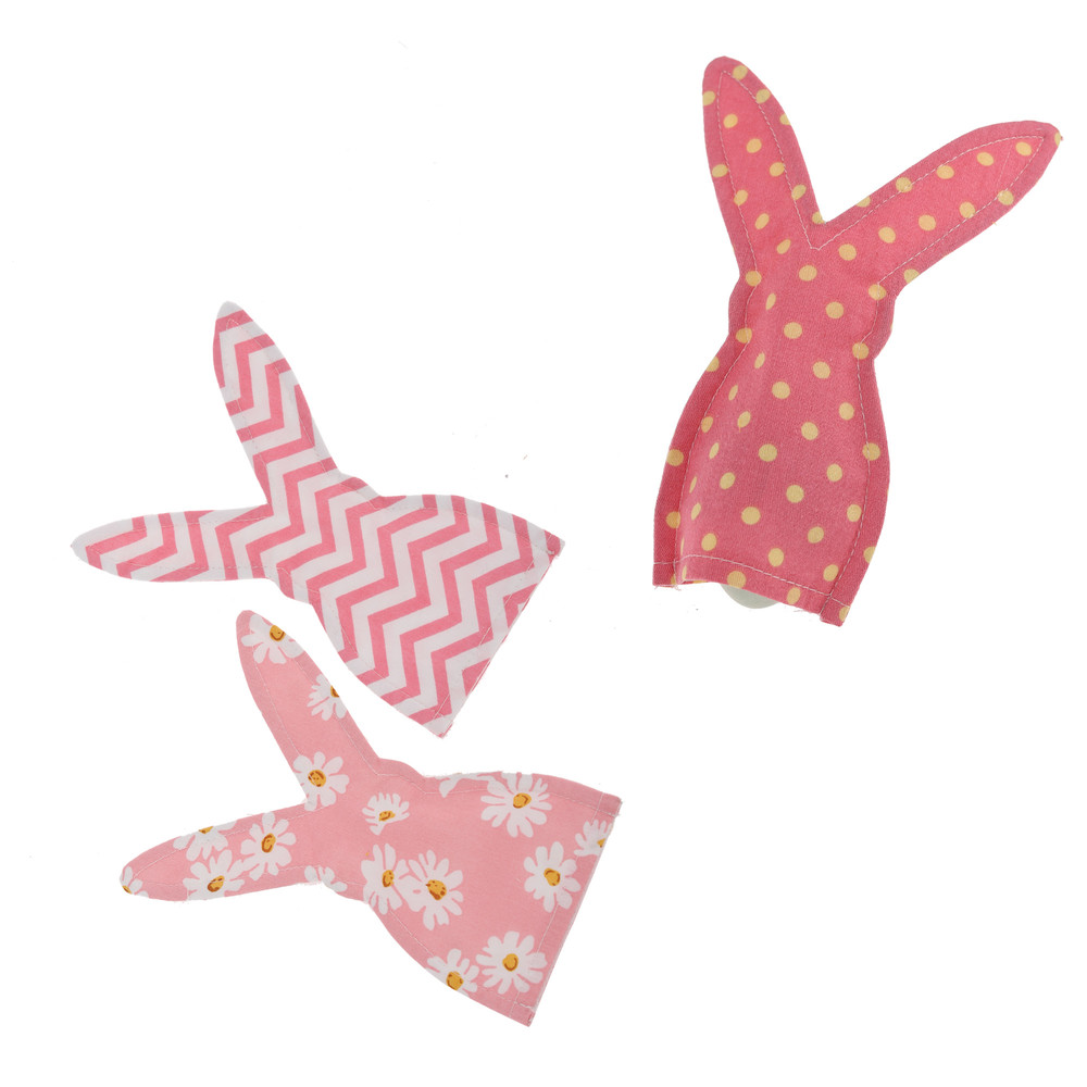 Wholesale promotional happy Easter Egg Cover cotton Bunny Rabbit shape with Daisies decoration egg warmer/ holder