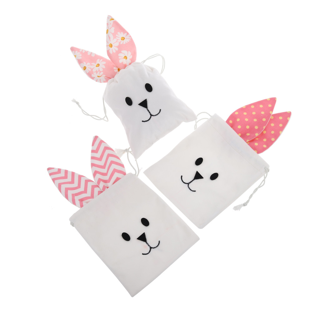 Wholesale happy Easter Egg Cover cotton Rabbit ear shape Egg Cover decoration egg warmer/ holder