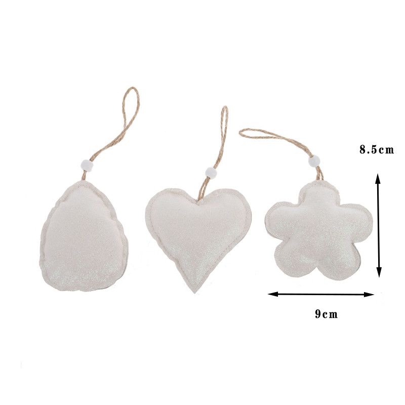 Fake Leather Heart Shape Easter Hanging Pendant Party Ornament Easter Crafts Decoration Easter Flower Pendant