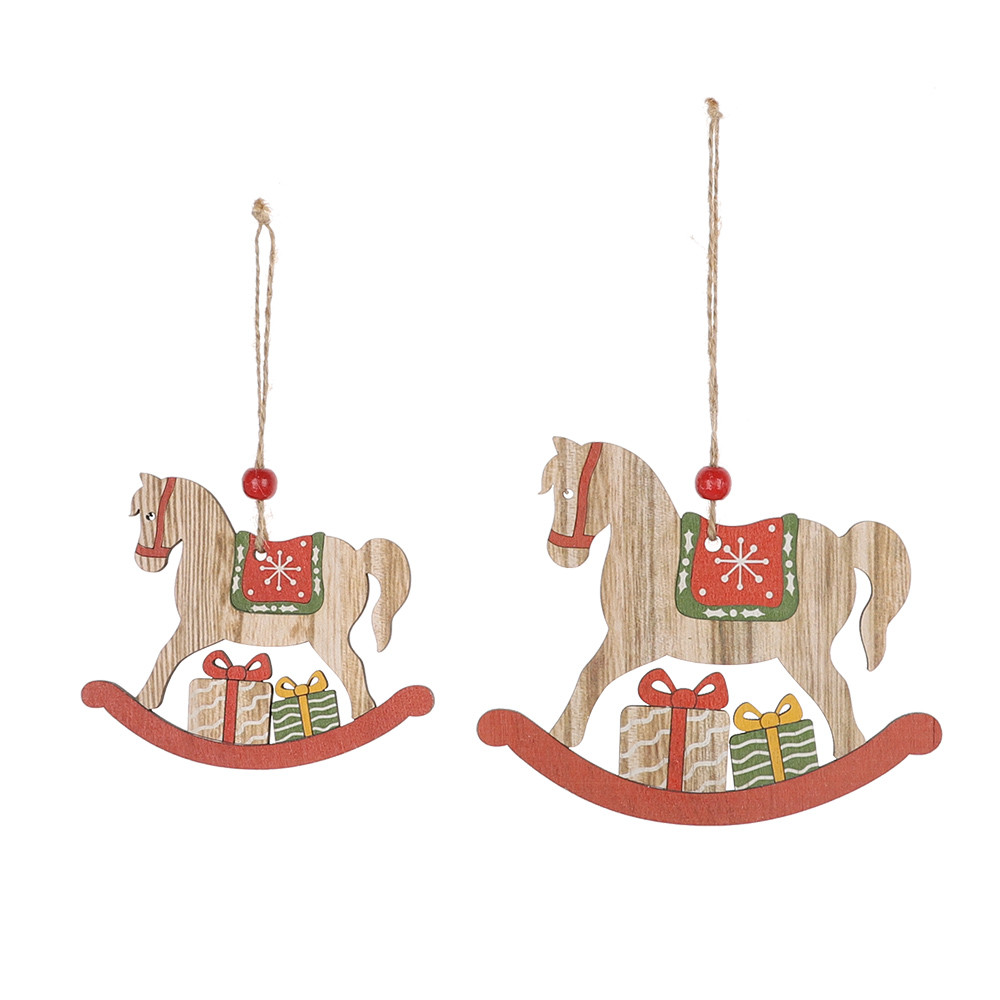 Wholesale Christmas horse shape tree hanging Christmas Day home decor
