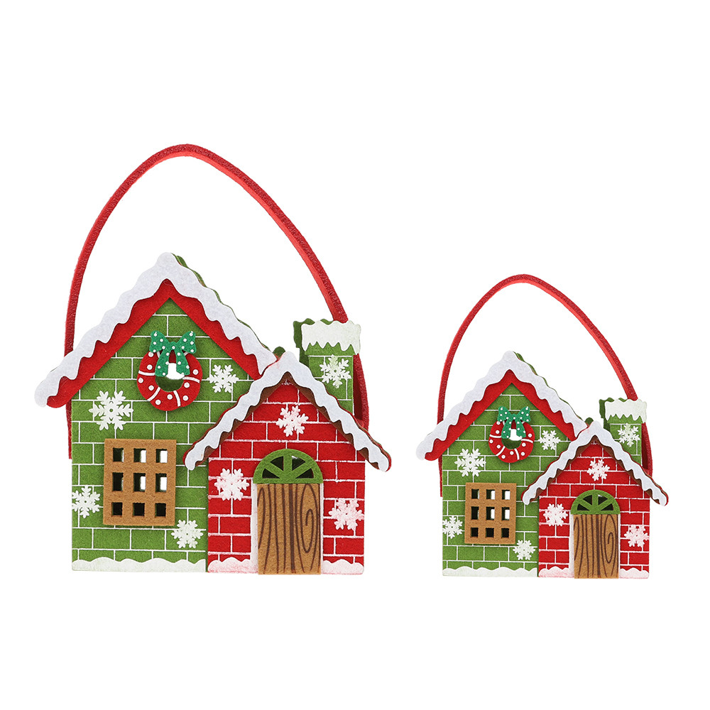 Quality chinese products X-mas ornaments santa clause Felt Christmas candy basket for decoration