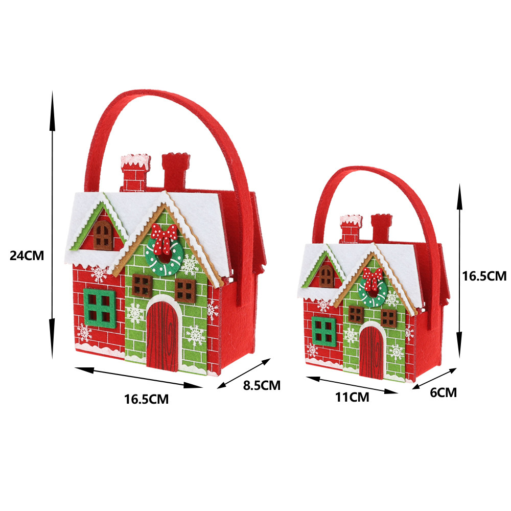 House shape Personalized Bags Christmas Large basket for Kids