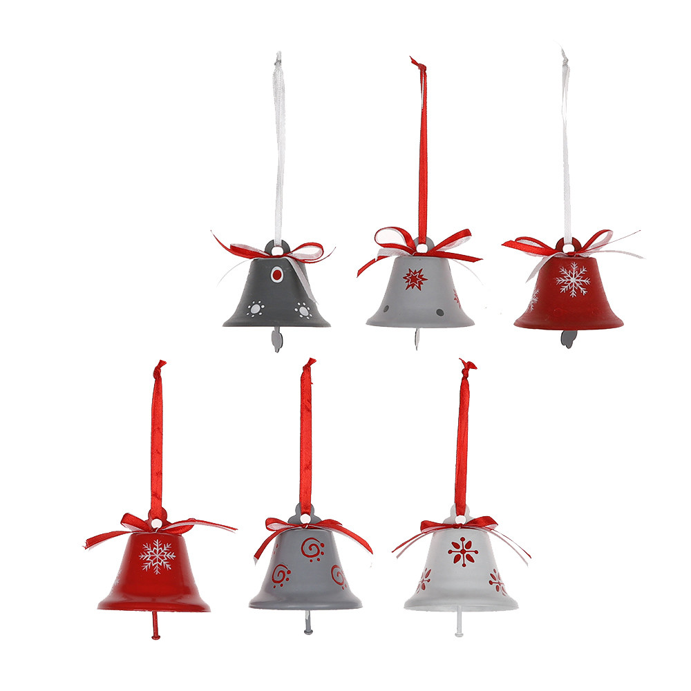 2020 Manufactures Wholesale Round Mini Red Metal Jingle Bell Personalized Christmas Hanging Pendant Decoration Ornament