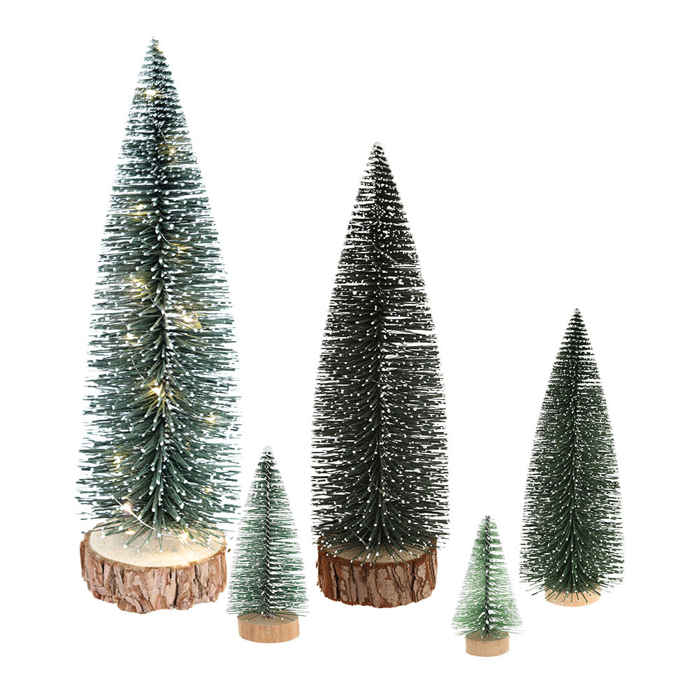 Hote Sale Green Mini Bottle Brush Tree Xmas Artificial Christmas Tree Decorations