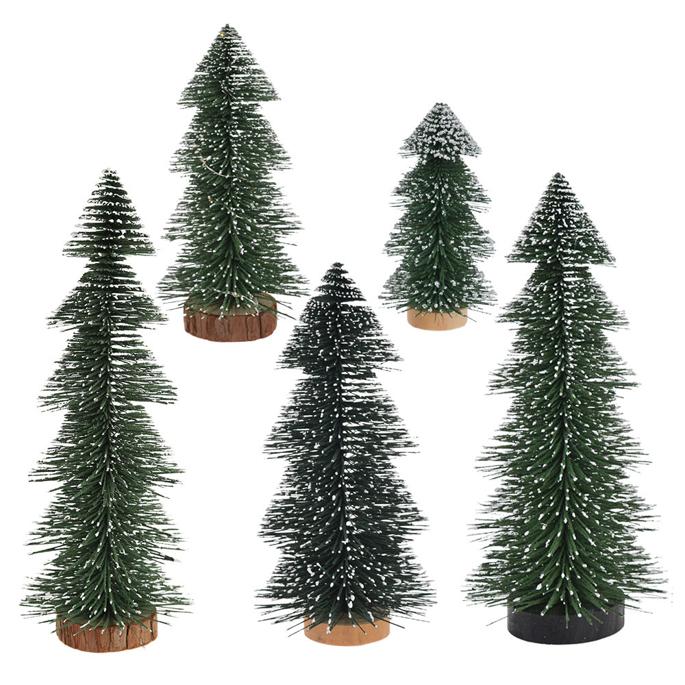 Chinese Manufacturer Mini Brissel Mini Artificial Christmas Bottle Brush Trees For Christmas Party Home Decors