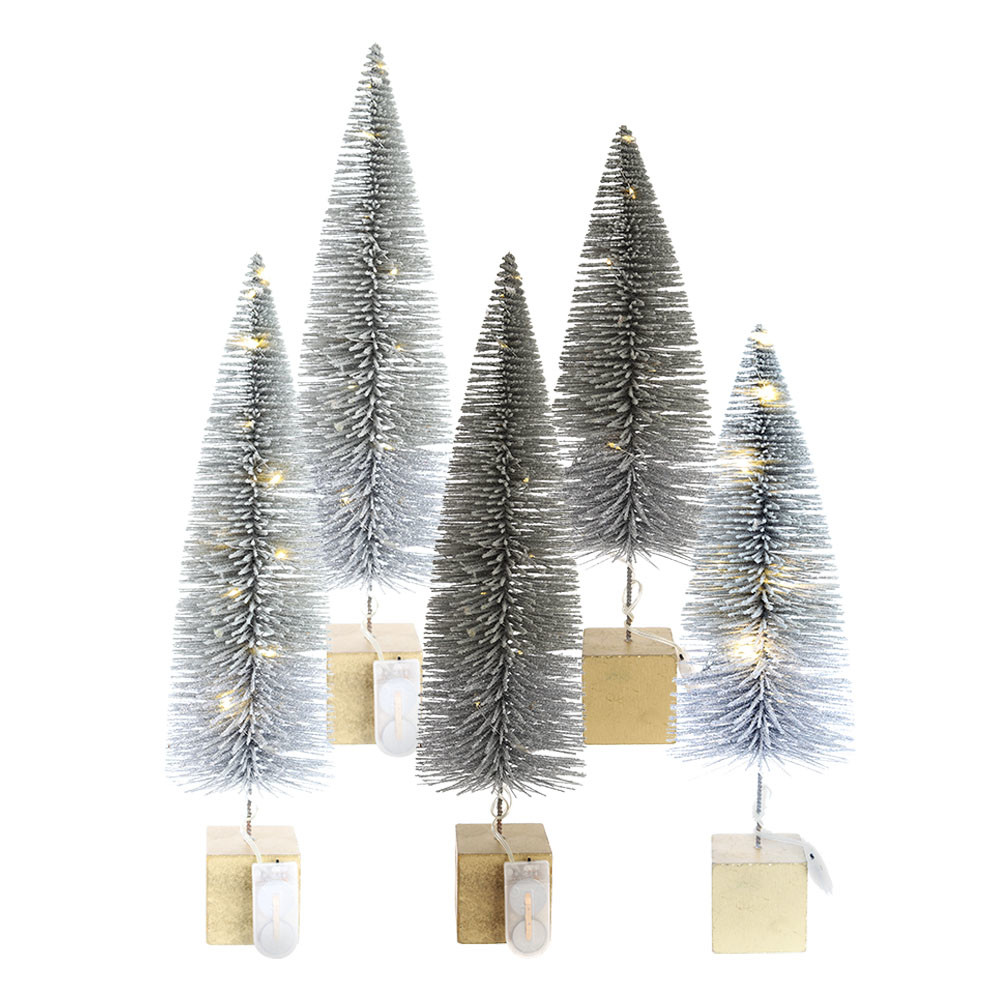 Hot Sale Artificial Mini Christmas Trees Bottle Brush Trees Mixed Color For Xmas Christmas Party Home Decors