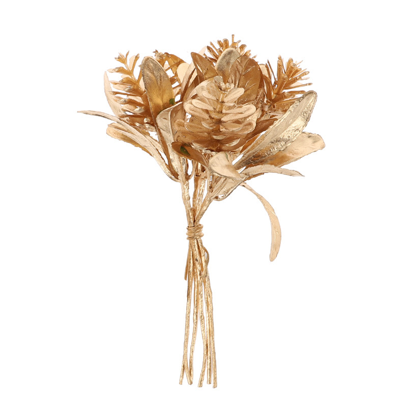 Gold tree branch plastic artificial flower home Christmas decorations