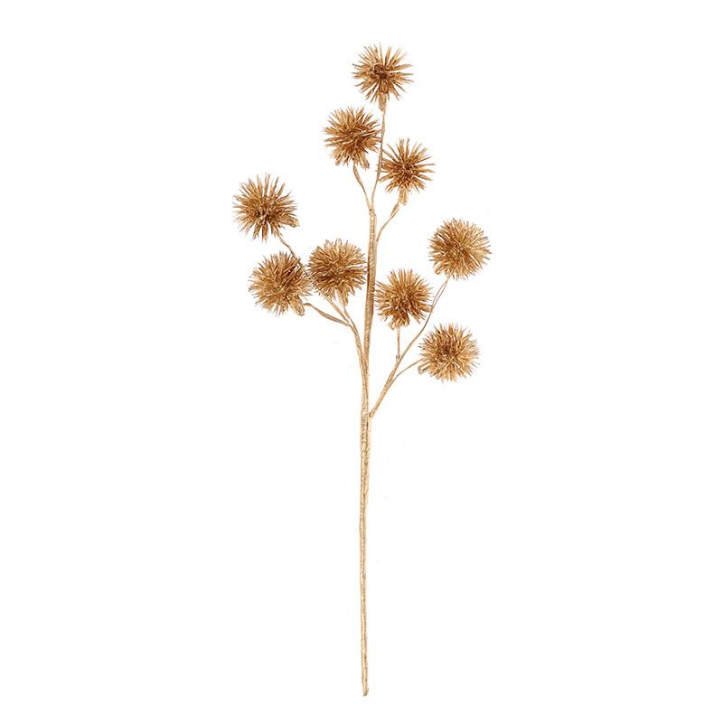 Artificial Flower Dandelion Flower Branch Plastic Fake Plant For Christmas Decoration
