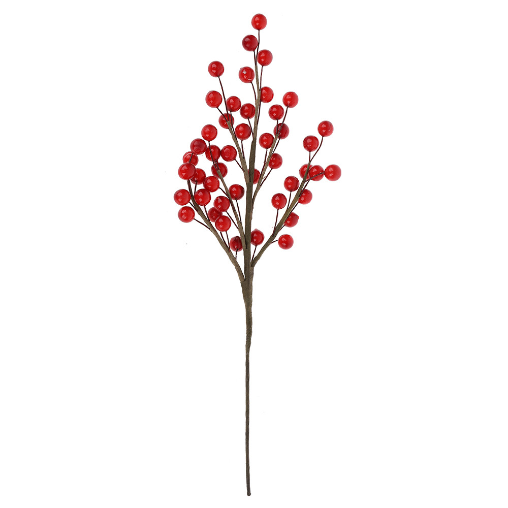 Wholesale Holiday decorations Artificial Red Berry Christmas Picks home decors