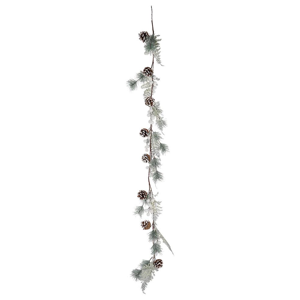 DIY Simple Xmas garland Door Hanging Decor Chic Artificial Pine Cone Wreath