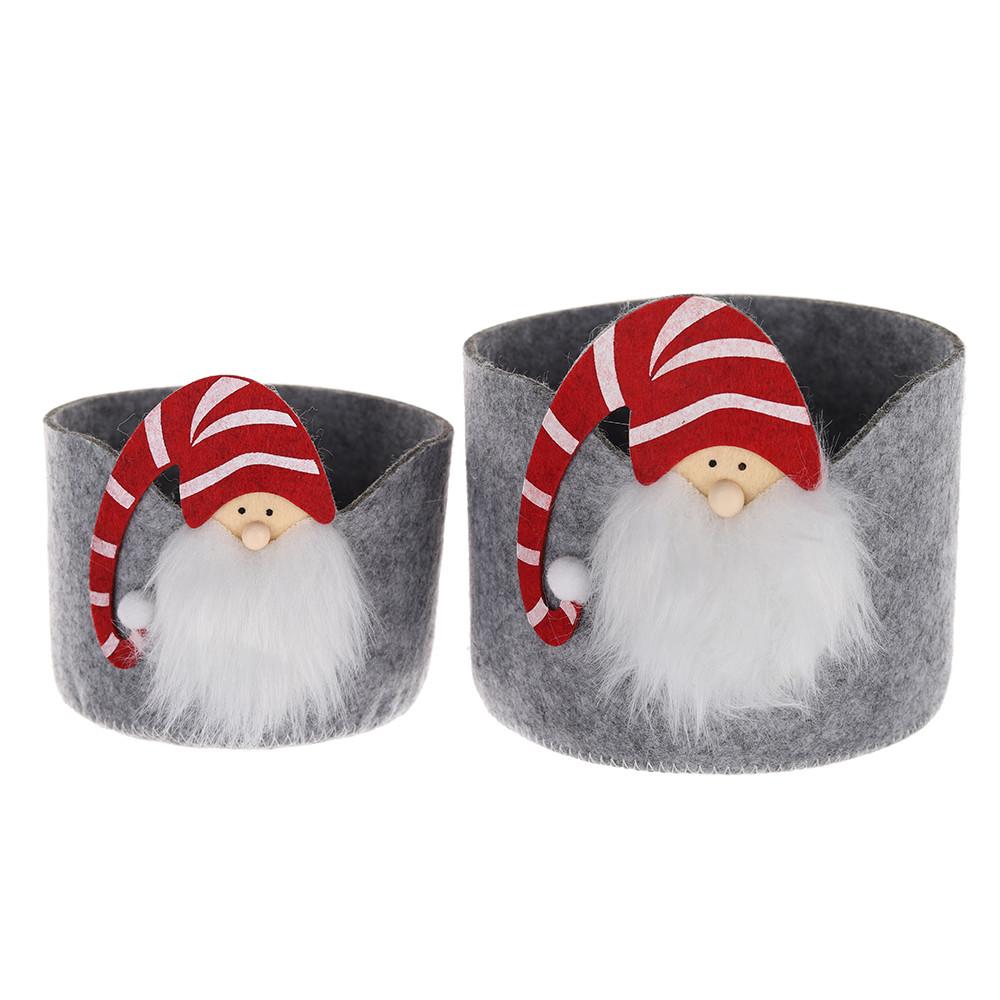 Christmas candy basket gift felt storage basket Handbag Gift Bag Felt gnome santa basket Holiday Party Decoration