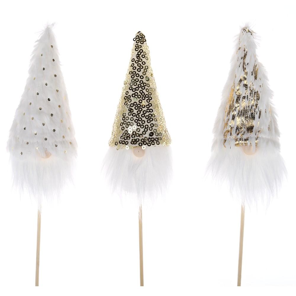 2021 New Product Santa Gnome Head Christmas Pick Decoration For Home Garden Decor