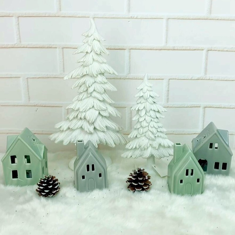 Light green Christmas decorations home decor