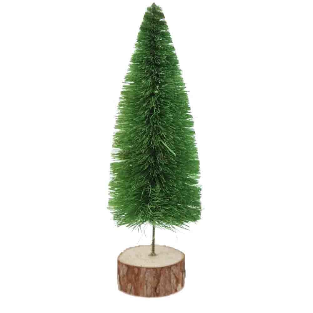 Small raffia Christmas tree home decoration Mini Christmas Pine Needles Table window Decorations Atmosphere Supplies