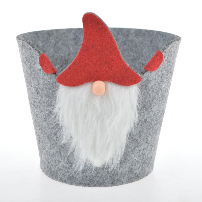 Christmas Candy Bags Santa Gnome Bags Xmas Lovely Treat Bags Portable Basket Christmas Holiday New Year Favor Supplies