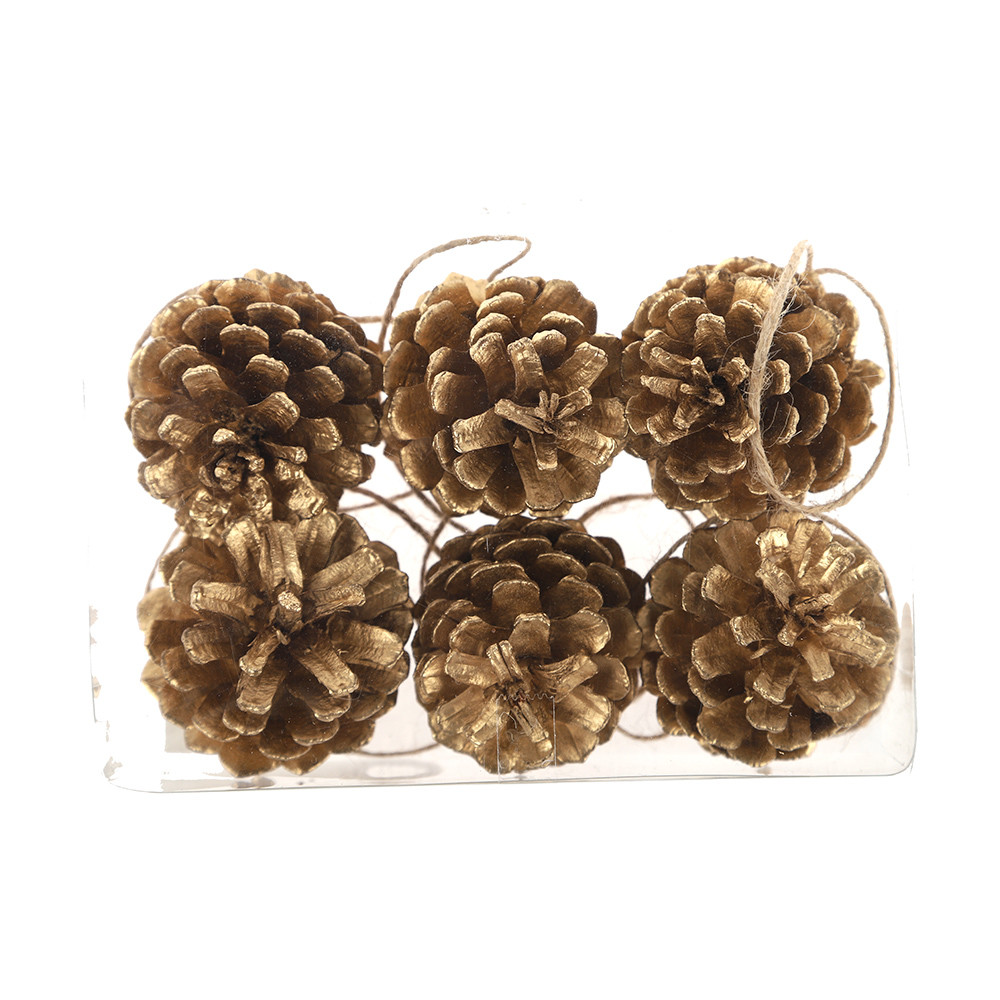 Natural and Colored Pine cone Christmas Decoratios pendants Wedding decoration DIY Decor Factory price