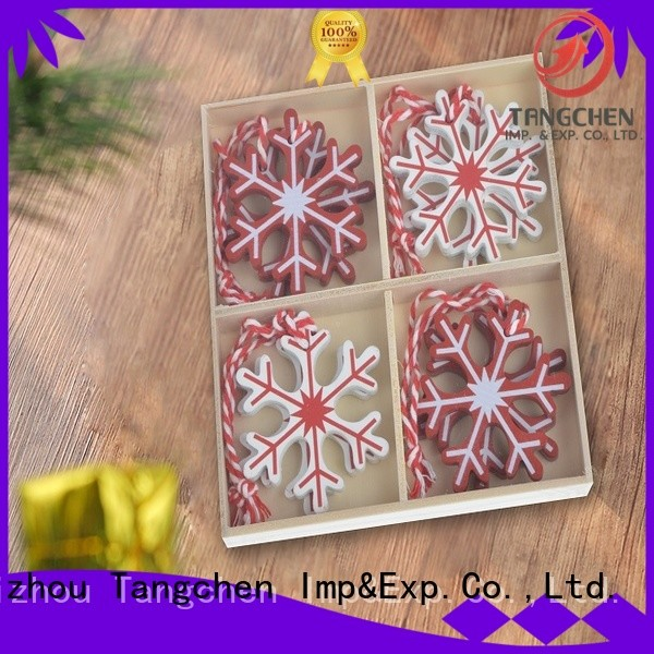Tangchen Latest wooden christmas tree decoration factory for home decoration