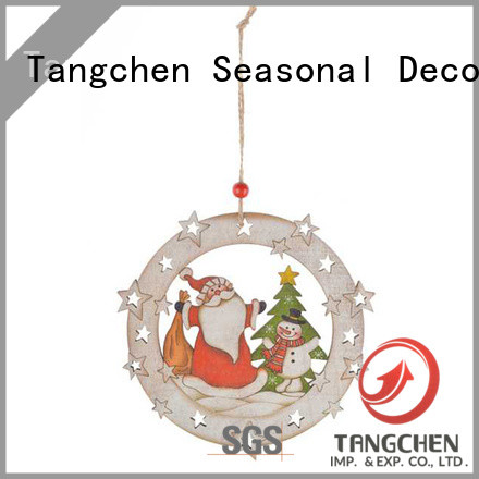 Tangchen cut wooden christmas tree decoration factory for home decoration