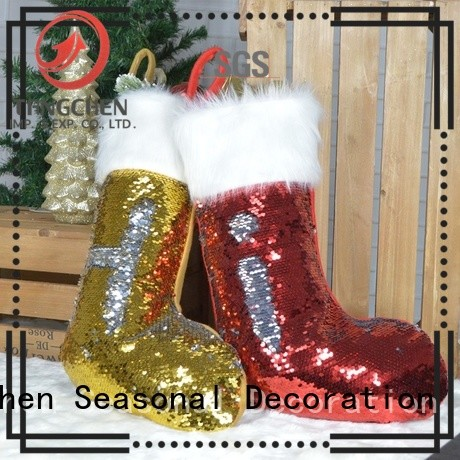 Top christmas stockings shining Supply for home decoration
