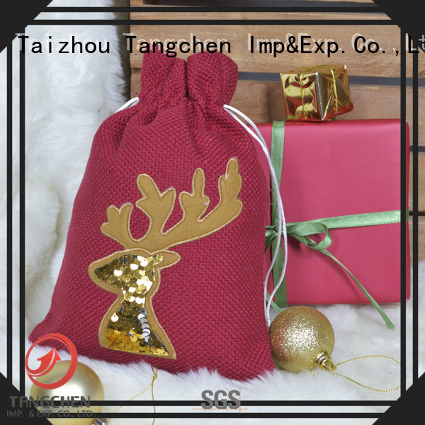 Tangchen red large christmas gift sacks Suppliers for chiristmas tree