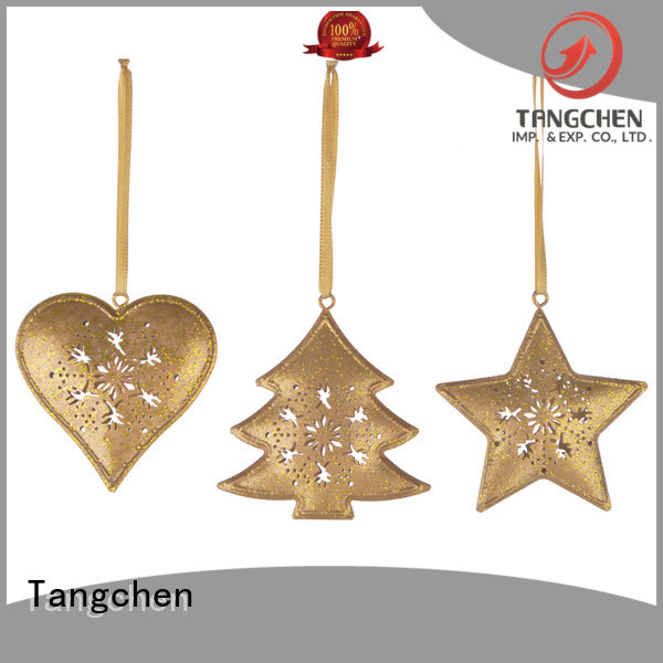 Tangchen Best gold christmas ornaments manufacturers for home decoration