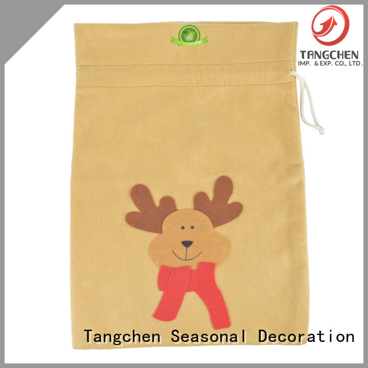 Tangchen green large gift sacks factory for chiristmas tree